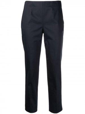 Укороченные брюки с разрезами Incotex. Цвет: синий