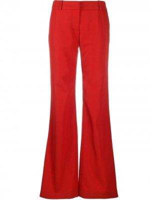 Расклешенные брюки Balmain. Цвет: красный