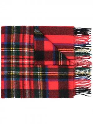 Клетчатый шарф Begg & Co. Цвет: red
