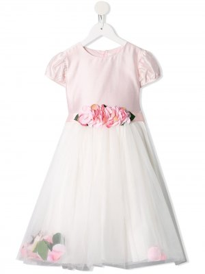 Платье с цветочным принтом и поясом Lesy. Цвет: розовый