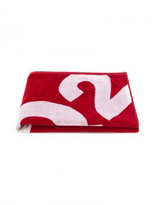 Пляжное полотенце с логотипом Dsquared2 Kids. Цвет: красный