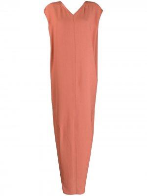 Длинное платье без рукавов Rick Owens. Цвет: оранжевый