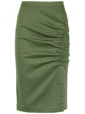 Heliconia pencil skirt Isolda. Цвет: зеленый