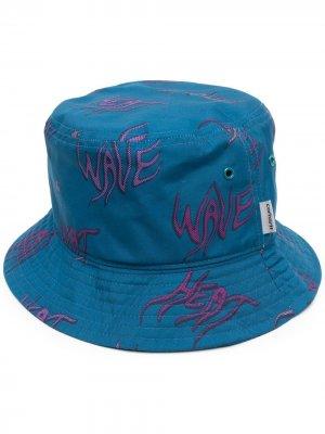 Шляпа со сплошным принтом Carhartt WIP. Цвет: синий
