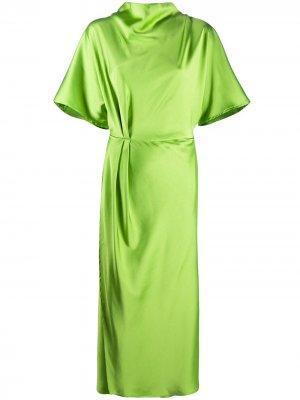 Платье миди с высоким воротником Stine Goya. Цвет: зеленый
