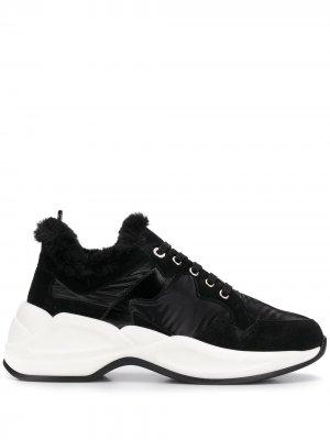 Двухцветные кроссовки Tosca Blu. Цвет: черный