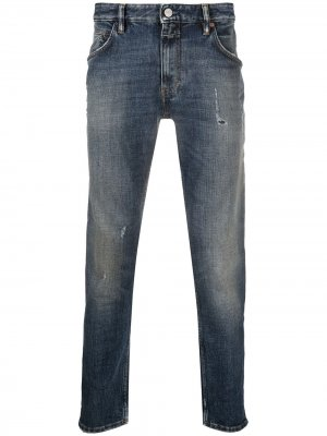 Узкие джинсы средней посадки Closed. Цвет: синий