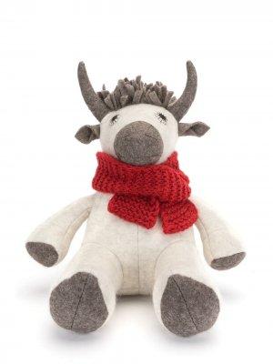 Мягкая игрушка Holiday Yak NORLHA. Цвет: белый