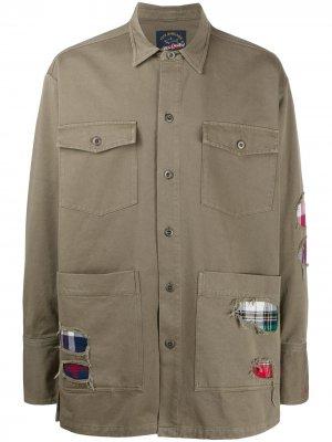 Куртка-рубашка с эффектом потертости Paul & Shark. Цвет: зеленый
