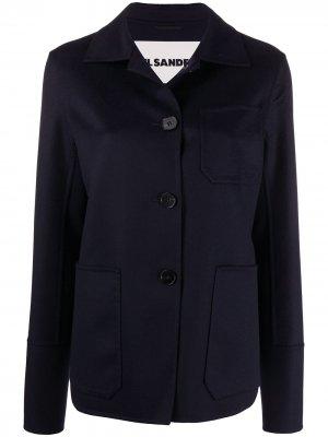 Пиджак на пуговицах Jil Sander. Цвет: синий