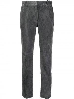 Узкие брюки с завышенной талией Joseph. Цвет: серый