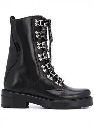 Ботинки Sombat в стиле милитари Olivier Theyskens. Цвет: черный