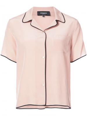 Рубашка в пижамном стиле Rochas. Цвет: нейтральные цвета