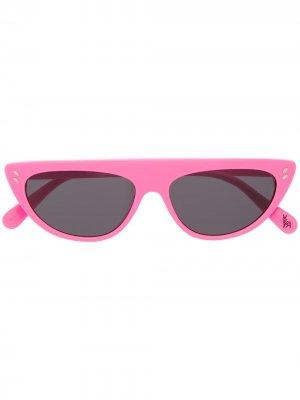 Солнцезащитные очки с прямым верхом Stella McCartney Kids. Цвет: розовый