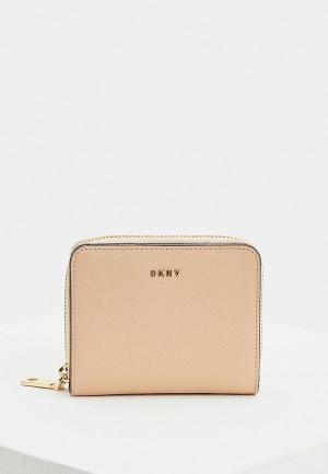 Кошелек DKNY. Цвет: бежевый