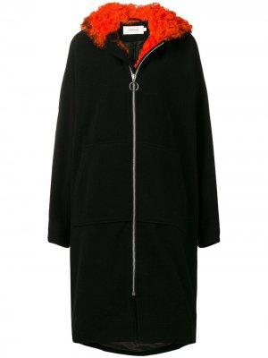 MarquesAlmeida пальто с оторочкой овечьей шерстью Marques'Almeida. Цвет: черный
