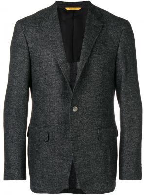 Tweed blazer Canali. Цвет: серый