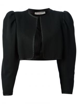 Укороченный пиджак-болеро Yves Saint Laurent Vintage. Цвет: черный