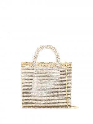 Мини-сумка с камнями Rosantica. Цвет: золотистый