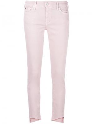 Укороченные джинсы 7 For All Mankind. Цвет: розовый