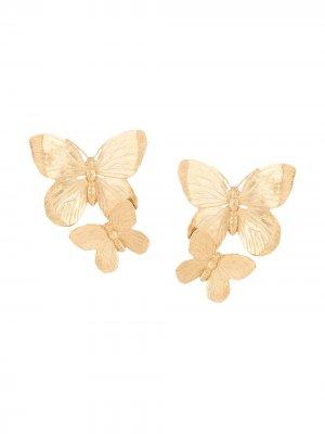 Серьги Papillon Jennifer Behr. Цвет: золотистый