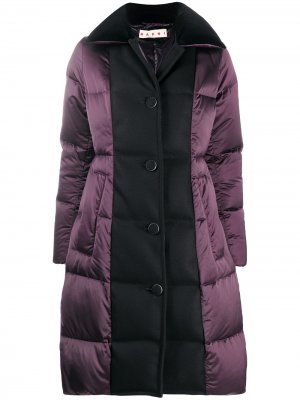 Двухцветная куртка-пуховик Marni. Цвет: фиолетовый