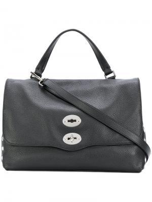 Большая сумка-тоут Postina Zanellato. Цвет: черный