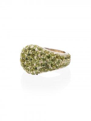Серебряное кольцо с сапфирами Shola Branson. Цвет: серебристый