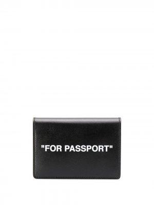 Обложка для паспорта Off-White. Цвет: черный