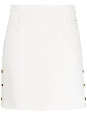 Юбка мини А-силуэта Iceberg. Цвет: белый