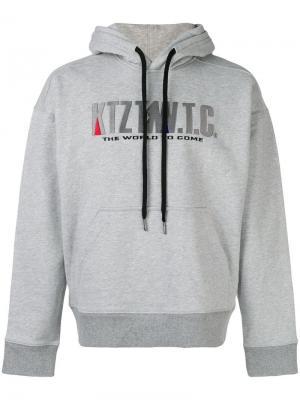 Mountain embroidered hoodie KTZ. Цвет: серый
