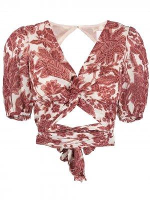 Блузка Wink с цветочным принтом Ba&Sh. Цвет: нейтральные цвета