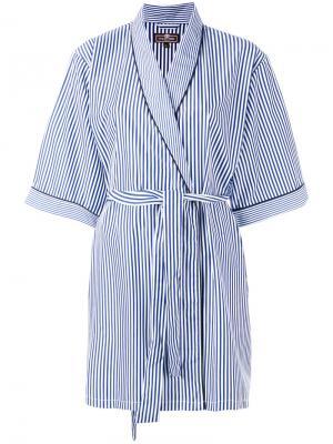 Полосатый халат-кимоно Otis Batterbee. Цвет: белый