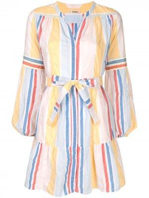 Пляжное платье в полоску с поясом lemlem. Цвет: разноцветный