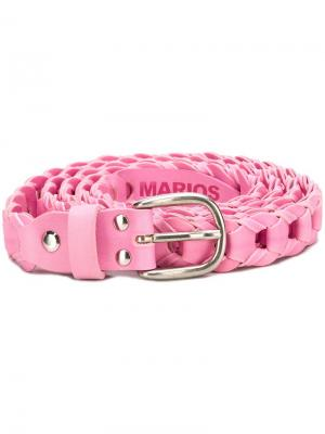 Woven buckle belt Marios. Цвет: розовый