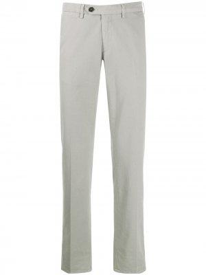 Классические брюки чинос Canali. Цвет: серый