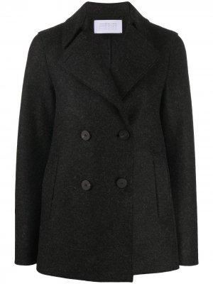 Короткое двубортное пальто Harris Wharf London. Цвет: серый