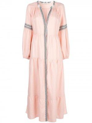 Расклешенное платье Koki lemlem. Цвет: розовый