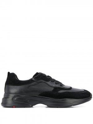 Кроссовки на шнуровке Lloyd. Цвет: черный