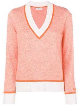 Deep v neck knit sweater Carven. Цвет: желтый