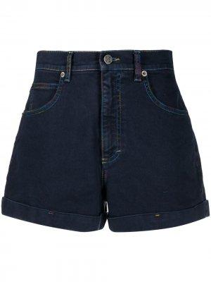 Джинсовые шорты с нашивкой-логотипом M Missoni. Цвет: синий