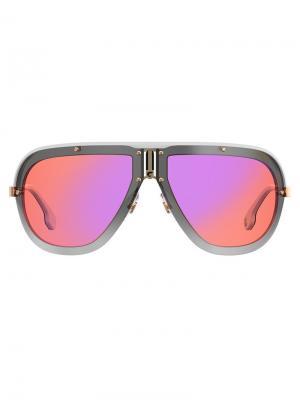 Солнцезащитные очки-авиаторы Carrera. Цвет: желтый