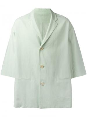 Пиджак с рукавами три четверти Qasimi. Цвет: зелёный