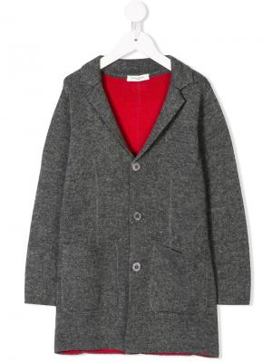 Long blazer Paolo Pecora Kids. Цвет: серый