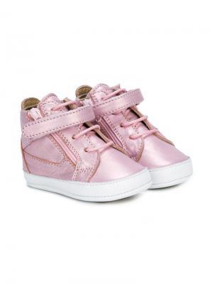 Пинетки хай-топы Giuseppe Junior. Цвет: розовый