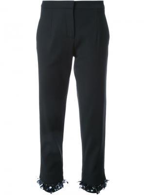 Укороченные брюки Mother Of Pearl. Цвет: черный
