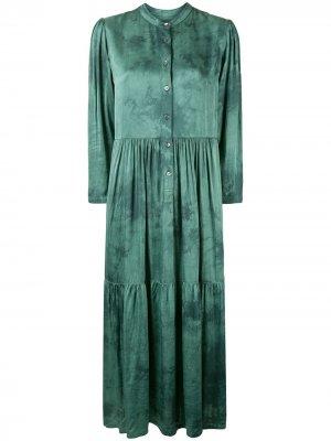 Платье Twila с принтом тай-дай Raquel Allegra. Цвет: зеленый