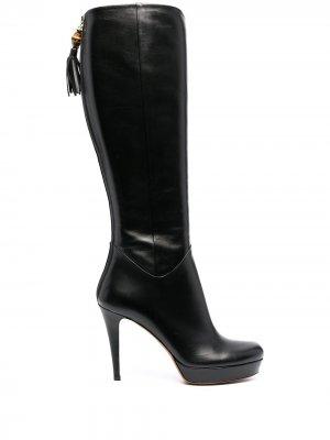 Сапоги на высоком каблуке Gucci. Цвет: черный