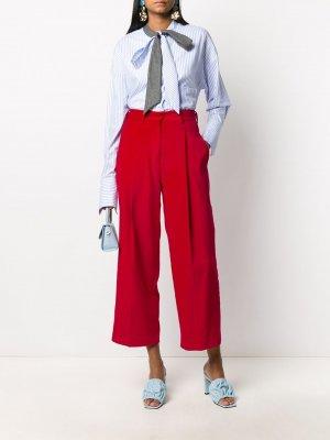 Прямые брюки с завышенной талией Jejia. Цвет: красный