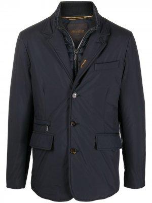 Многослойный однобортный пиджак Moorer. Цвет: синий